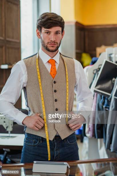 young professional male tailor - tailor stock photos and pictures
