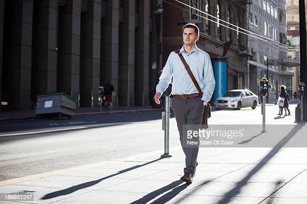Young professional on his way to work