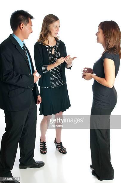 Jovens profissionais falar com Língua Gestual