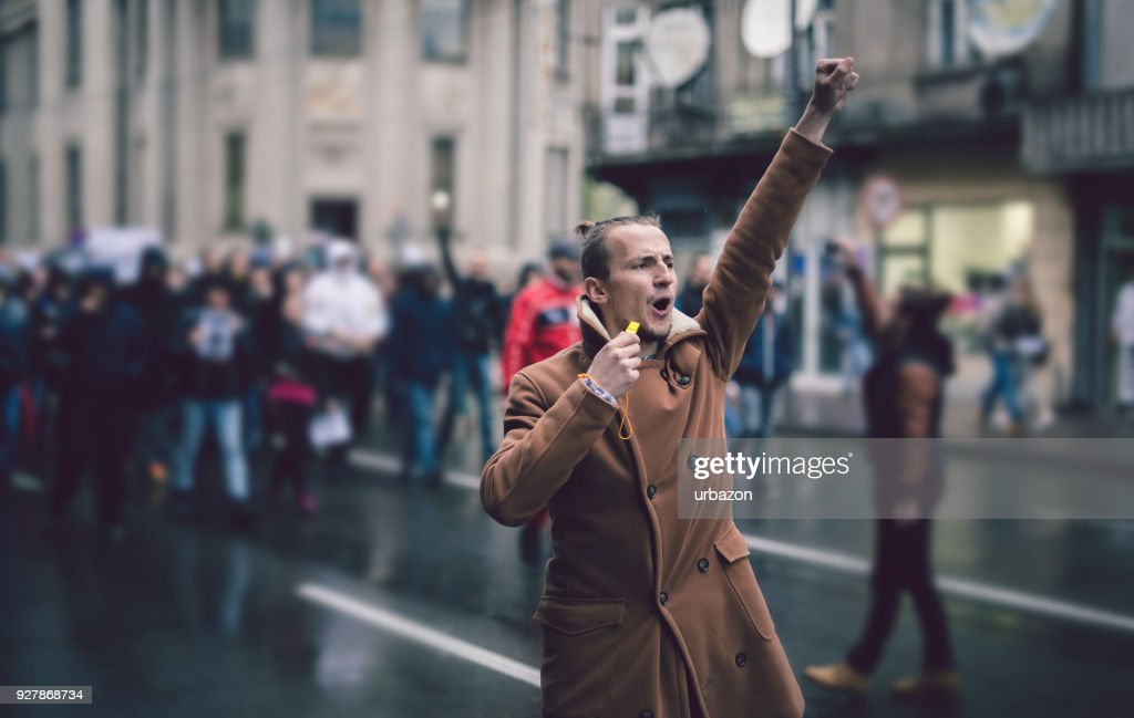 Young Protester : Stock Photo