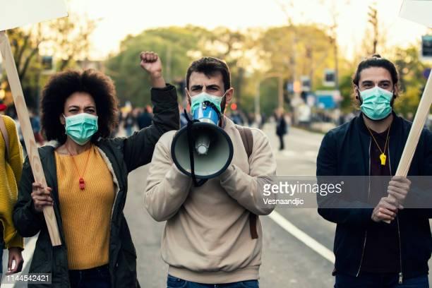 若手抗議者 - 改革 ストックフォトと画像
