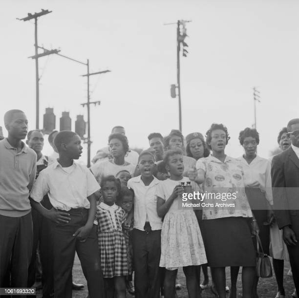 Young protestors during the Birmingham Campaign in Birmingham, Alabama, May 1963. The movement, which called for the integration of African...