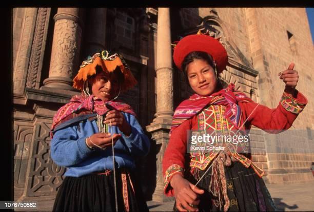 Young Quechua Women in Native Dress
