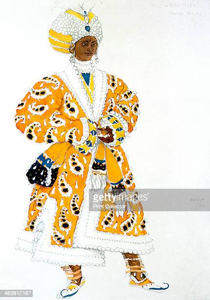 'A Young Rajah' ballet costume design 1911 Costume design for a Ballets Russes production of Le Dieu Bleu story by Jean Cocteau and Frederigo de...