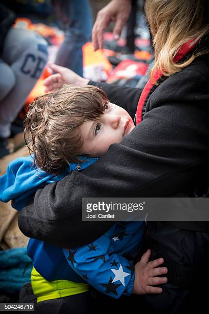 Young refugee arriving in Europe - Lesbos, Greece