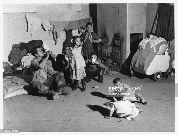 Young refugees evacuated during the 1956 uprising at reception center close to the Hungarian border   Location Traiskirchen Austria