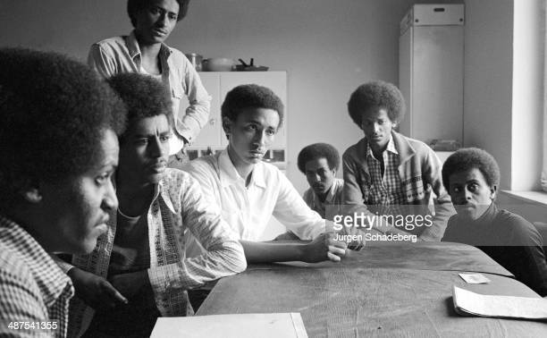 Young refugees from Eritrea at a refugee camp in Paderborn Germany 1980