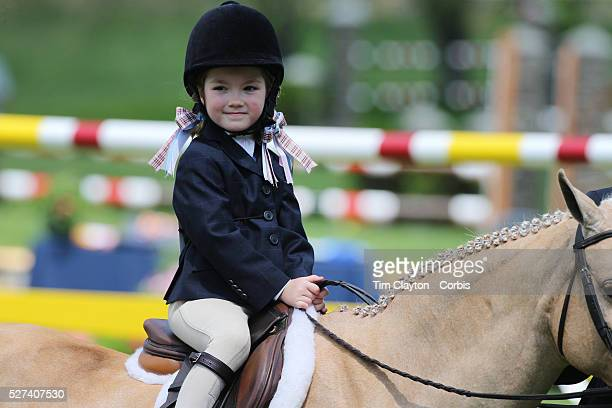 Young riders during presentations before the $100000 Empire State Grand Prix presented by the Kincade Group during the Old Salem Farm Spring Horse...