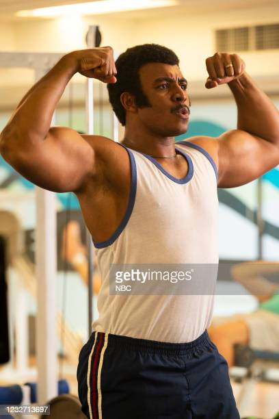 """Young Rock -- """"Election Day"""" Episode 111 -- Pictured: (Joseph Lee Anderson as Rocky Johnson --"""
