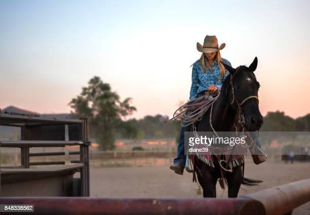Young Rodeo Cowgirl