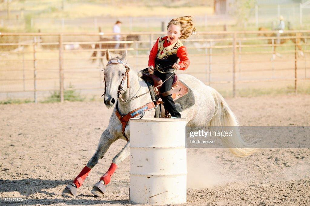 Rodeo Ladies Barrel Racing Stock Photo (Edit Now) 12846904