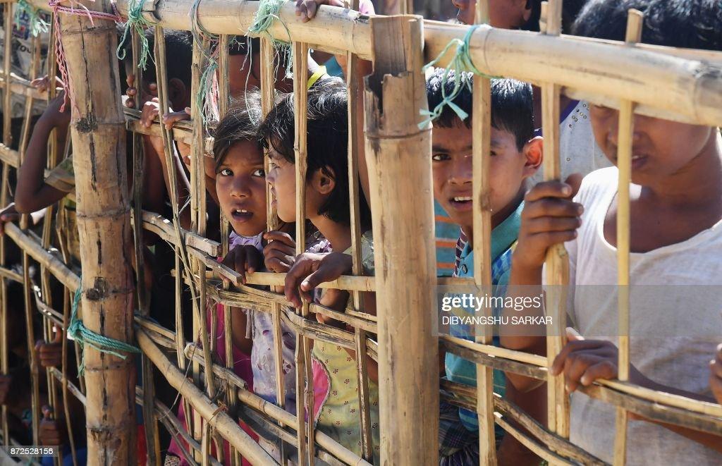 BANGLADESH-MYANMAR-UNREST-REFUGEE-ROHINGYA : News Photo