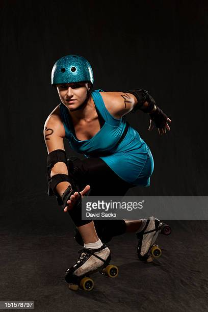 Young roller derby woman portrait