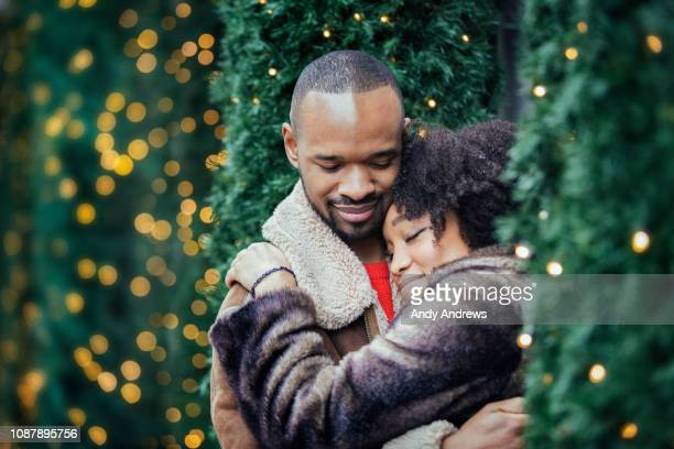 Young romantic couple at christmas
