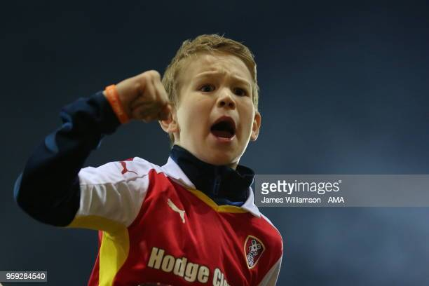 A young Rotherham fan at full time during the Sky Bet League One Play Off Semi FinalSecond Leg between Rotherham United and Scunthorpe United at The...