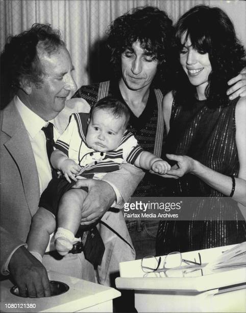 Young Rudolph Augustus Enrico Krall just four months old seems to be objecting to his naming ceremony conducted by the Rev Ted Noffs at the Wayside...