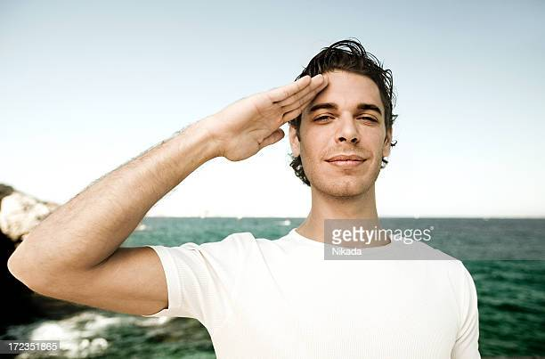 young sailor - saluting stock pictures, royalty-free photos & images