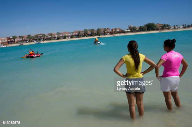 Young Saudis swim and jet ski at Durrat AlArus outside of Jeddah Saudi Arabia June 15 2011 The beaches around Jeddah are among the few places where...