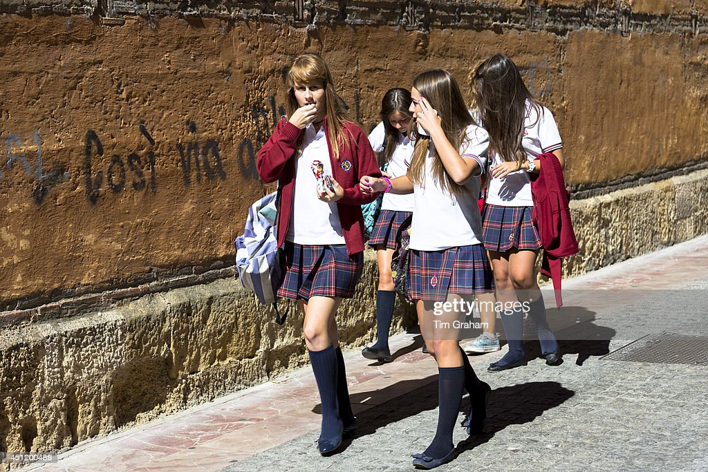 Young Students in Leon, Spain : News Photo