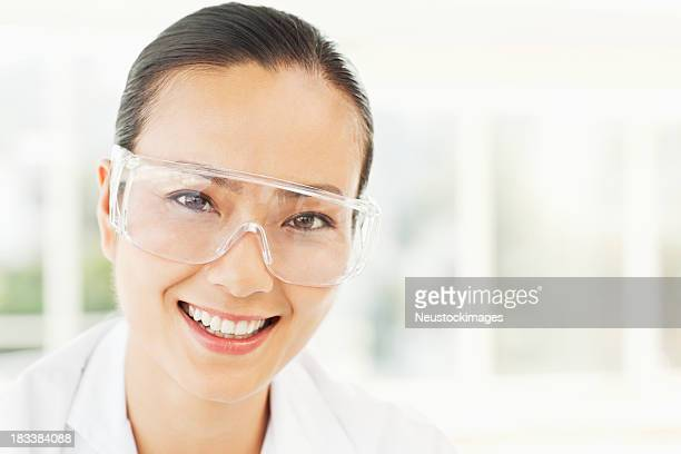 Young Scientist in Safety Glasses
