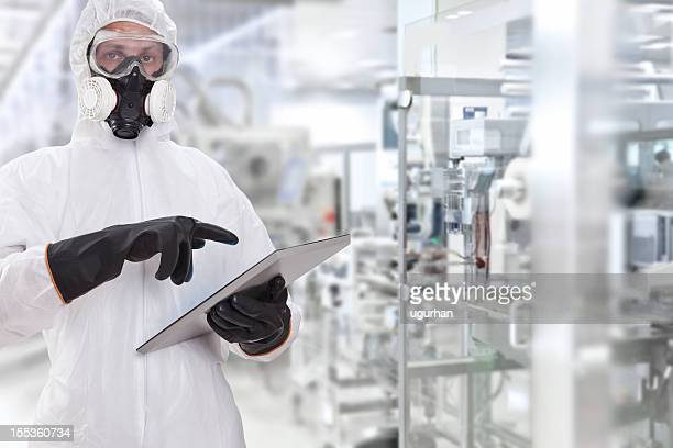 young scientist - gas mask stock pictures, royalty-free photos & images