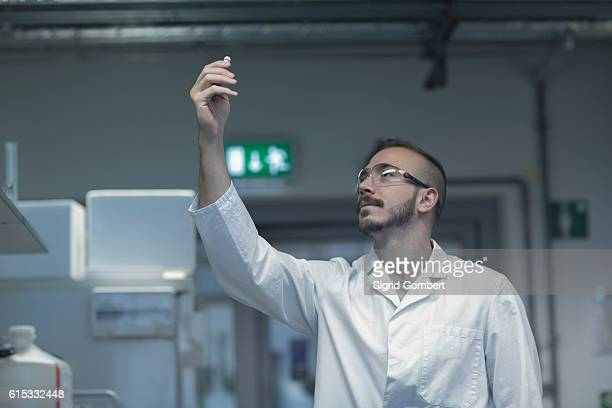 young scientist working in a pharmacy lab, freiburg im breisgau, baden-württemberg, germany - sigrid gombert stock pictures, royalty-free photos & images