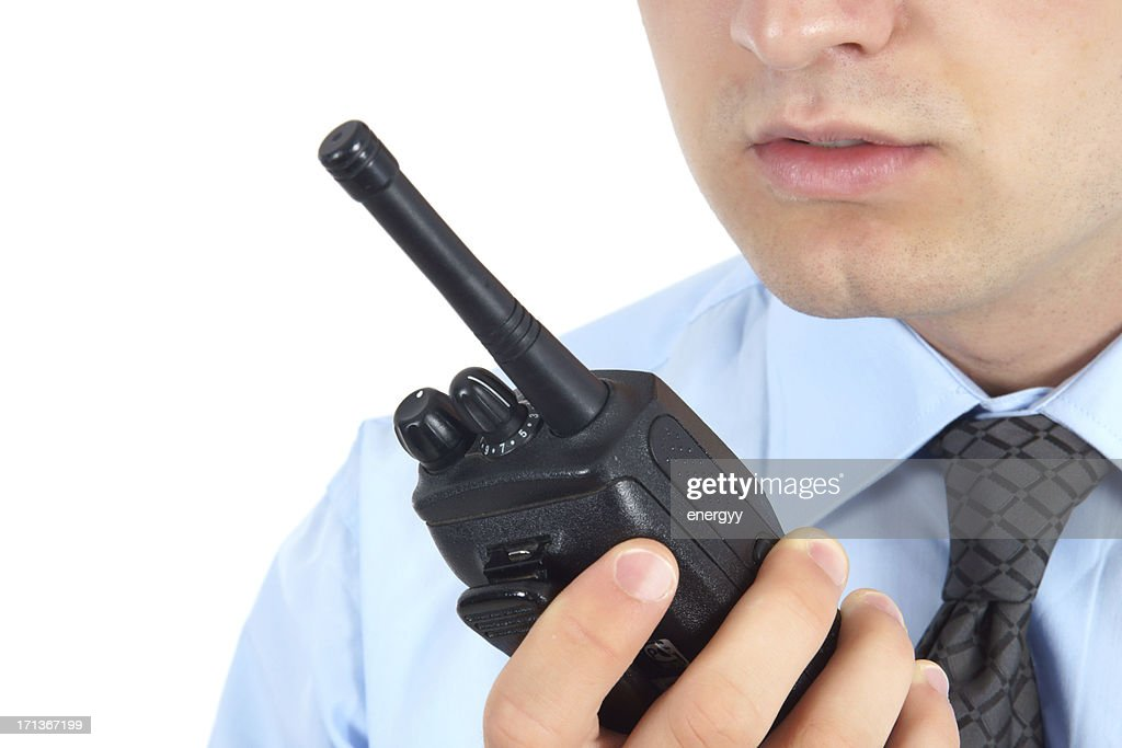 Young Security Staff : Stock Photo