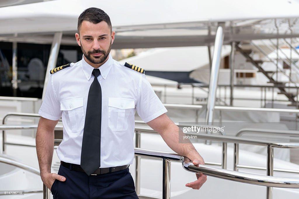 Young ship captain : Stock Photo