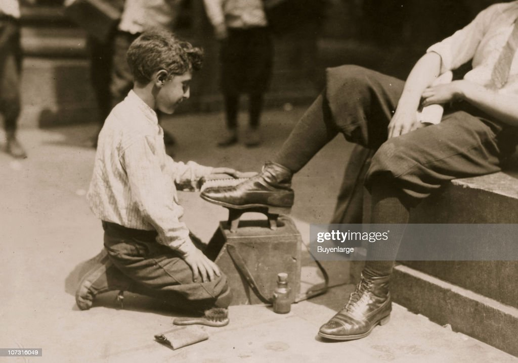 Portrait Of A Young Bootblack : News Photo