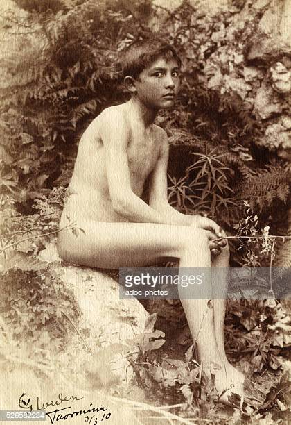 Young Sicilian Boy in Taormina In 1910