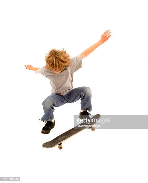 young skateboarder - skating stock photos and pictures