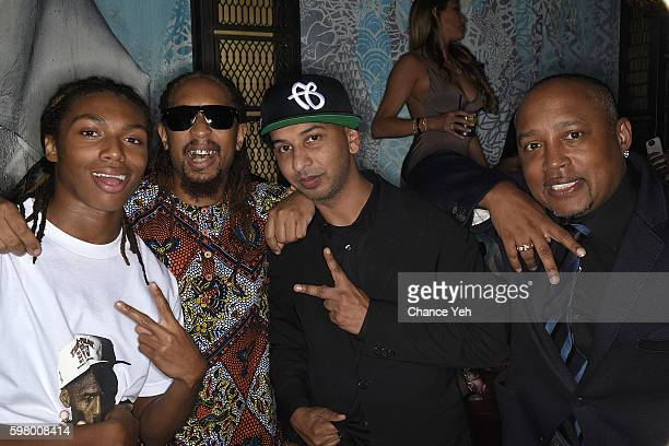 Young Slade, Lil Jon, Sujit Kundu and Daymond John attend Sujit Kundu's 21st birthday celebration at Vandal on August 29, 2016 in New York City.