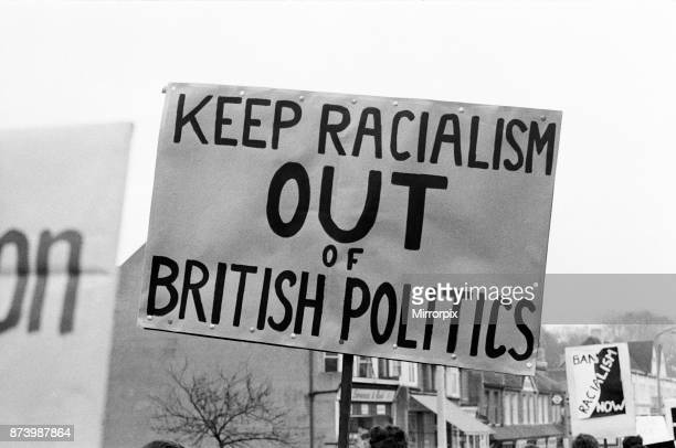 Young socialists demonstrate at a meeting held by Conservative MP for Smethwick, Peter Griffiths in Sutton, 27th January 1965.