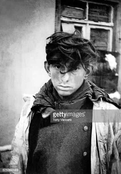 A young soldier of the Wehrmacht taken prisoner by the Allies Rochefort Belgium World War II 29th December 1944