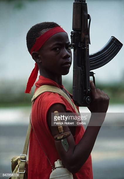 Young soldier with the NPFL rebels in Monrovia, Liberia.