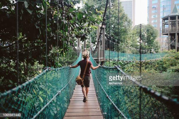 Young solo traveler in Kuala Lumpur, Malaysia