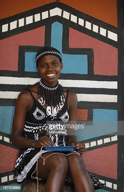 Young South African bead woman