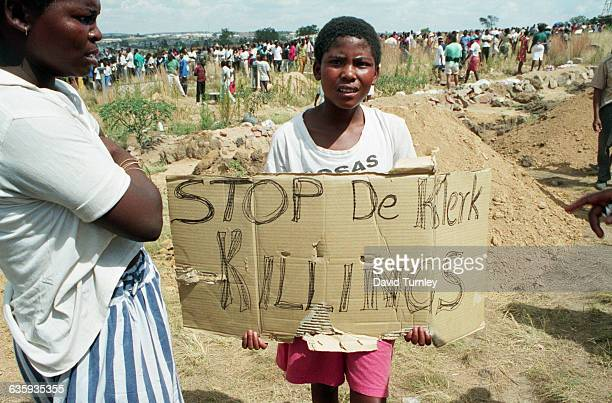 Young South African Boy Protesting
