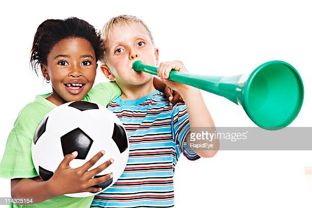Young South African soccer fans for world championship
