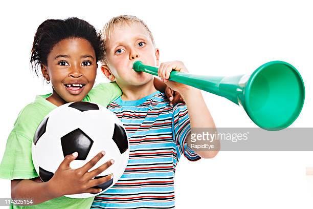 I giovani tifosi di calcio sudafricana Campionato del mondo di