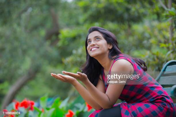 young south indian girl - stock photos - waiting stock pictures, royalty-free photos & images