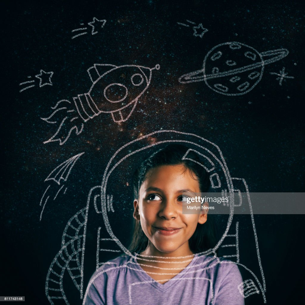young space explorer aspirations : Stock Photo