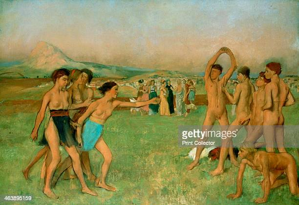'Young Spartans Exercising' c1860 Spartan girls urge boys to fight From the National Gallery London
