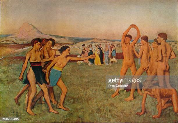 Young Spartans Exercising circa 1860 Painting held at The National Gallery London From An Outline of Modern Painting in Europe and America by S C...