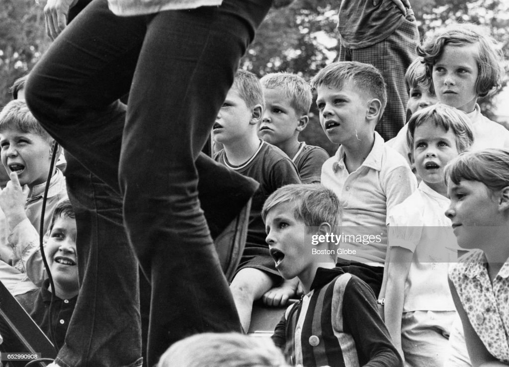 Young spectators watch Summerthing in Boston on July 30, 1969.