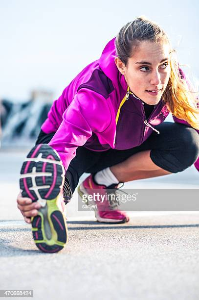 Young sport woman exercising fitness