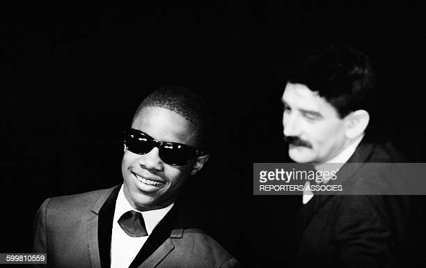 Young Stevie Wonder at the Olympia Concert Hall in Paris France on December 13 1963