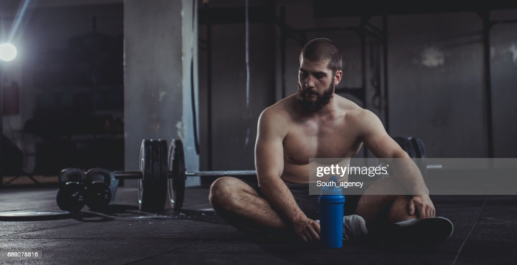 Young strong man : Stock Photo