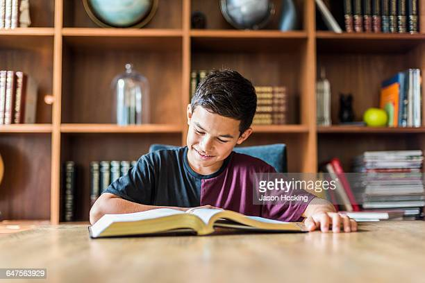 young student reading book - jason wise stock pictures, royalty-free photos & images