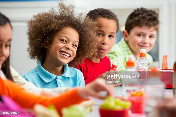 Young Students Enjoying Lunchtime